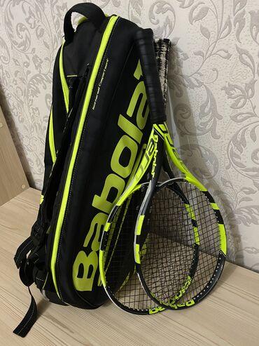 Ракетки - Кыргызстан: Продам 2 ракетки и теннисную сумку в идеальном состоянии, фирма