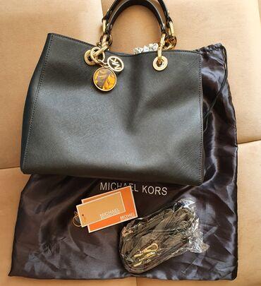 Сумки - Бишкек: Продаю сумку из натуральной кожи сафьяно Michael Kors оригинал в отлич