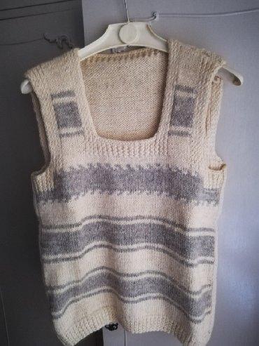 Prsluk zimski na - Srbija: Prodajem jedanput obucen, prakticno nov prsluk od ciste vune, bez boje