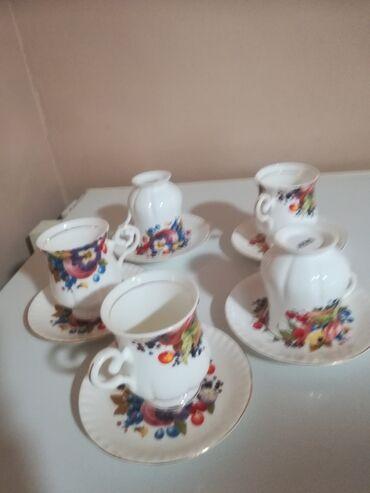 Porcelan - Srbija: Fenomenalnih 5 6soljica za kafu, belu kafu, caj Porcelan, ARTFIL