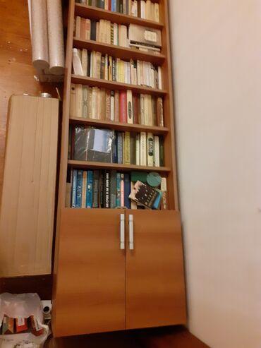 Книжный шкаф -высота 246см, ширина 60см,толщина ламината 2см
