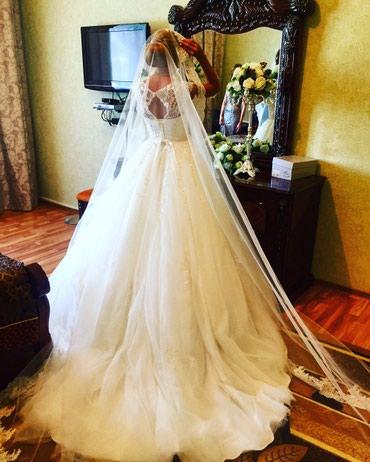 Свадебные платья - Токмак: Продам свадебное платье! Испания! Расшитое бисером и паетками, длинный