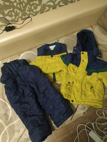 Куртка тройка зима состояние отличное, размер с 1 до двух лет, цена 80