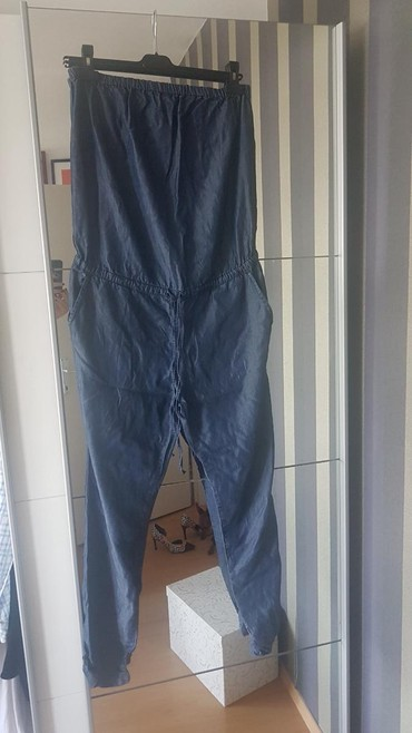 Baggy-ripped-jeans - Srbija: BENETTON JEANS KOMBINEZON BROJ M,NOV!