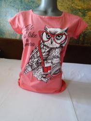 Majica jedan - Srbija: Nova preslatka, moderna majica sa sovicom. Imam ih nekoliko i