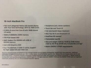 Macbook pro 16 новый, запечатан, самая последняя модель, Latest