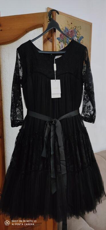 гипюр платье в Кыргызстан: Платье пачка, рукава гипюр, замок на спине. Абсолютно новое платье