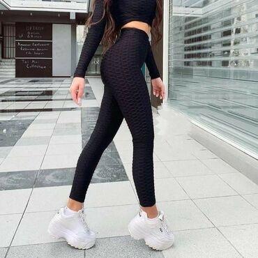 Nova haljina - Srbija: Crni komplet, joga helanke i top dugih rukava. Vel L, manji model pa