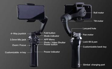 fotoaparat aksesuarlari - Azərbaycan: Snoppa Atom 3 Gimbal. Stabilizator ela veziyetdedi, teze kimi. Heç bir