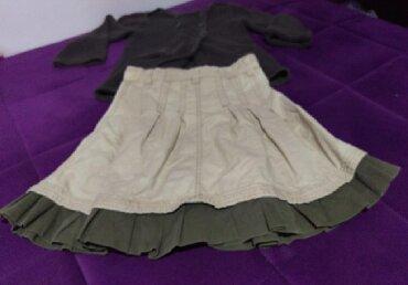 Suknja duzina - Srbija: Dzemper i suknjica, velicina 128Duzina dzempera 47, rukavi 40Duzina
