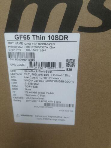 msi gs70 fiyat - Azərbaycan: 15.6 FHD 120 hzi7 10 gen1660 TI 6gb512 SSDDDR 4 8 GB windows 64 bit