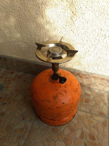 Plinska pec - Srbija: Mala Plinska boca od 3 kg Sa gorionikom Ispravna Kontakt