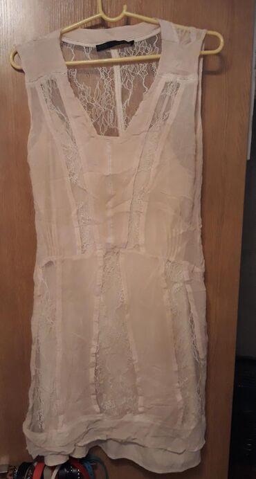 размер-м-s в Кыргызстан: Продаю Очень красивое платье casual Zara молочного цвета для молодых