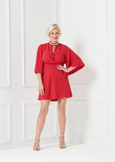 Crvena plisana haljina - Srbija: Mala crvena haljina. MATALAN. Nova. Velicina S, 38