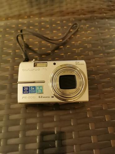 Fotoaparatlar - Bakı: Fotokamera Olimpus FE-200. Ela vaziyyatda. Adapteri. Usb kabel