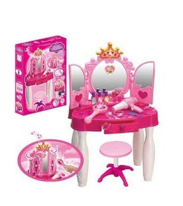 стол трюмо в Кыргызстан: Трюмо отлично подойдет для маленькой принцессы.В комлпекте стульчик
