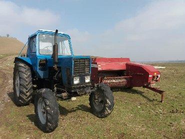 Сельхозтехника - Кыргызстан: МТЗ трактору жаны прессподборщиги менен сатылат абалы жакшы