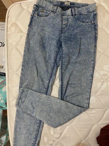 Брюки тонкие, джинсовые, pull&bear, s размер