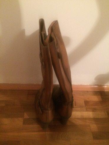 Kozne braon cizme STEFANO, broj 36, postavljene odlicnog kvaliteta - Vranje