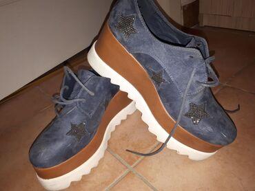Cipele na platformu - Srbija: Zenske cipele, sa platformom, nosene par puta. Na vrhu dve ogrebotine