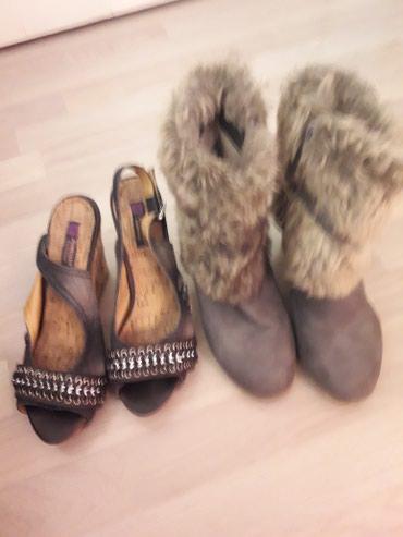 Ženska obuća | Novi Becej: Zenske cizmice i sandale,dobro ocuvane br.38,oba para za 1000