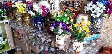 с искусственным в Кыргызстан: Искусственные цветы с горшками пластиковые