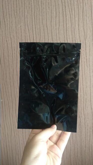 Дой пак пакеты, с зип лок замкомЦвет : черный, глянцевыйРазмеры : 13.5