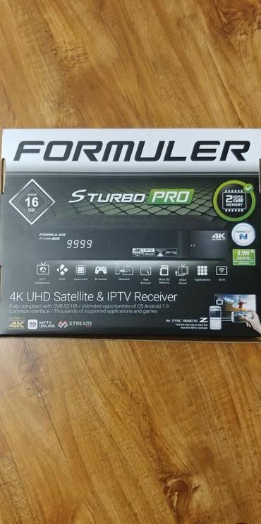 аудио ресиверы в Кыргызстан: Спутниковый/ IPTV UHD ресивер Formuler S TurboPro. Обновлённая модель