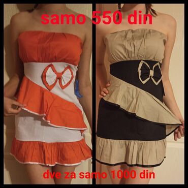 Haljine | Kikinda: Extra ponuda- samo 550 din. Veličina: S/M. U ponudi dve haljinice za