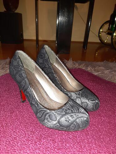 Bluza sa rukav - Srbija: Cipele sa čipkom,kao nove Broj 39
