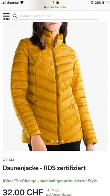 Jakna duzina grudi - Srbija: Canda C&A bukvalno nova jakna, dobijena ali velicina ne odgovara