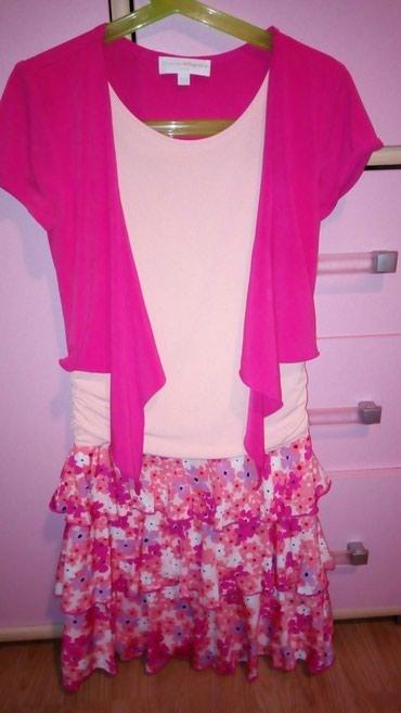 Prelepa roze haljinica velicina 128 jednom obucena - Sabac