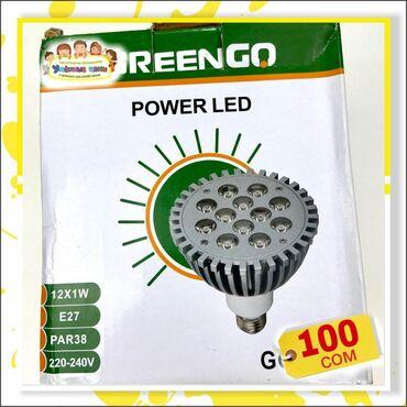 Лампа greengo Размеры:12x1w, 220-240V Цвета:серый Цена:100 сом