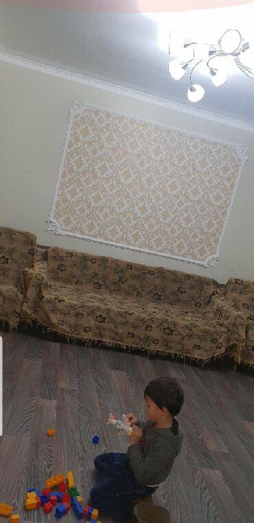 раздвижной диван с креслами в Кыргызстан: Раздвижной диван и 2 кресла вместе с дивандеками за 5000