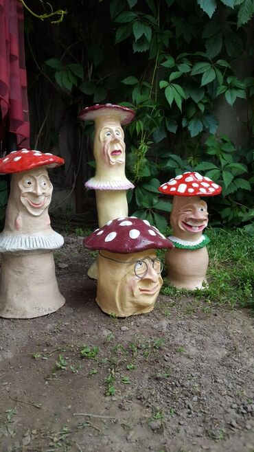 Продаю садовые фигуры Грибы    Ручная работа
