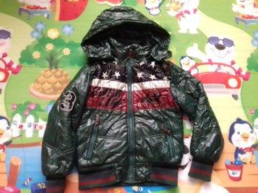 Bakı şəhərində куртка б/у в хорошем состоянии на 5 -6 лет, капюшон съёмный, подкладка