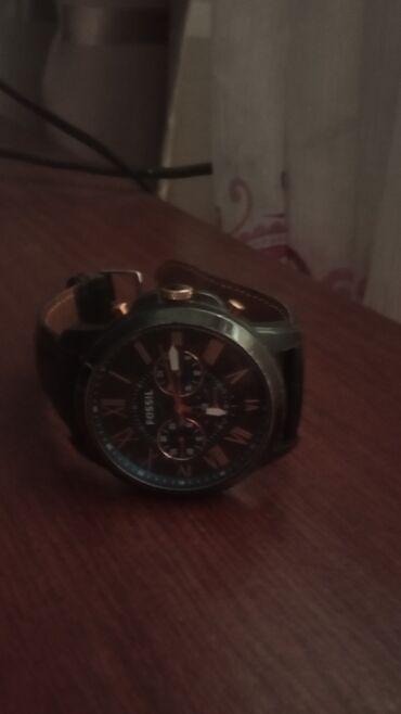 Черные Мужские Наручные часы Fossil