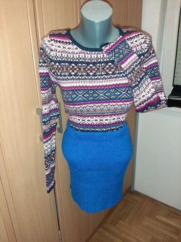 Divan set suknja i sareni dzemper vel S/M. Cena za oba