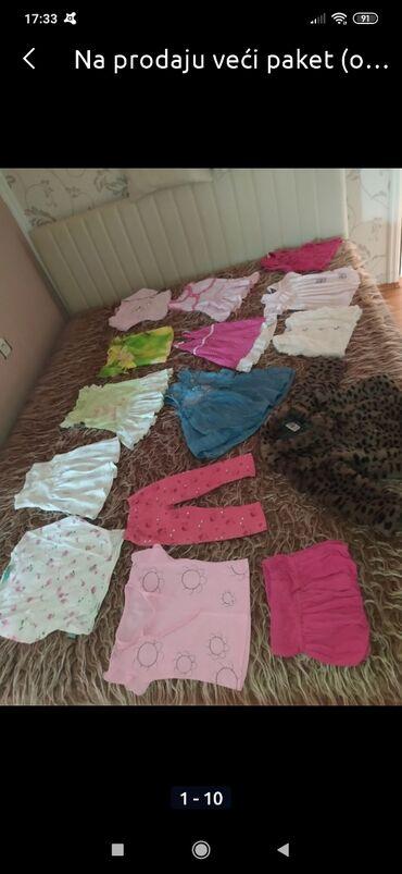 Krzneni prsluci - Srbija: Na prodaju veći paket (od 15 komada) odeće za devojcice od godinu dana