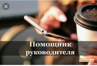 Требуется помощник руководителя в Бишкек