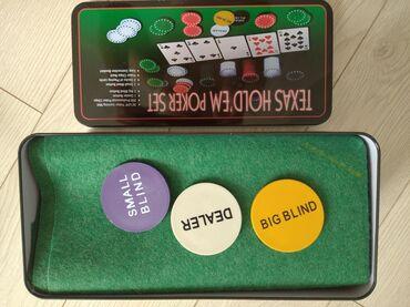 Настольные игры - Бишкек: Покерный набор+ доставка по городу бесплатная