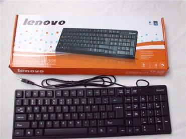 Keyboard Lenovo K5818 Slim (защита от влаги, USB, 1.5 м, Black) в Бишкек