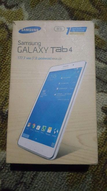 Planşetlər - Azərbaycan: Samsung Tab 4 modeli. Tam yenidir demek olar. Karopkasi ve Butun
