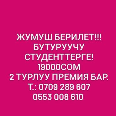 Поиск сотрудников (вакансии) - Бишкек: Мерчендайзер. Без опыта. 6/1
