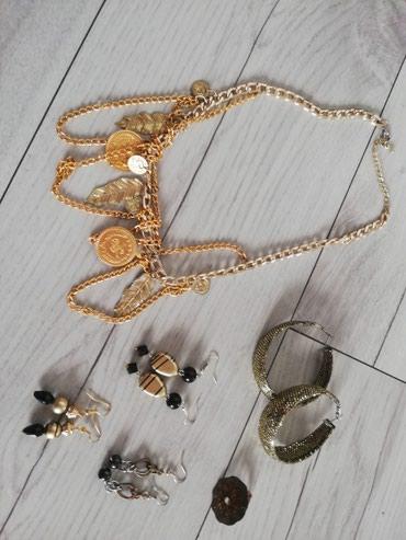Zlatni set nakita, ogrlica i mindjuse - Sjenica