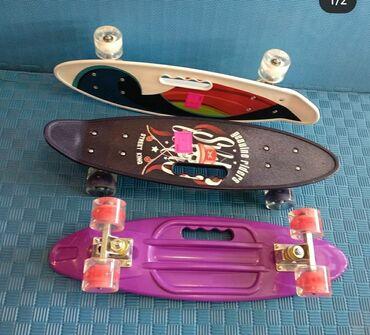 Penny skateboard-Pennyboard,təkəri işıqlı və işıqsız modeli
