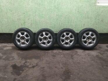 купить титановые диски на ниву в Кыргызстан: Продаю титановые колёса комплект 5дырок размерR215/60/16 шины всесизон