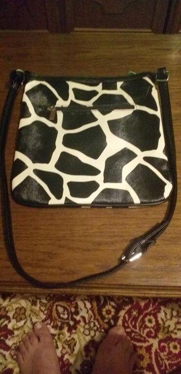 Zenska kožna torba zebra kao nova