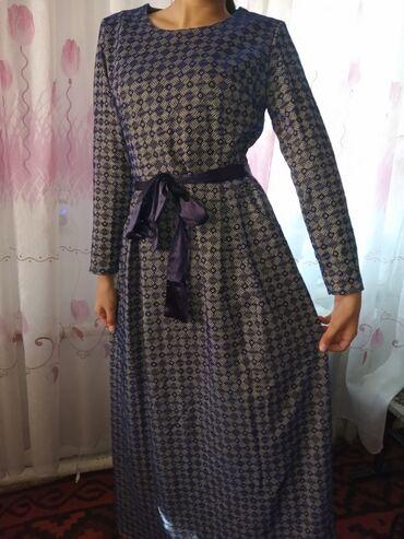 шикарные вечерние платья в пол в Кыргызстан: Шикарное вечернее платье 48 размера.Носила только 1 раз,платье