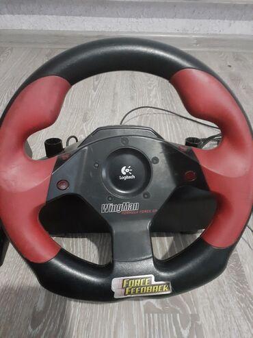 Видеоигры и приставки - Кок-Ой: Игровой руль оригинал Logitech Wingman
